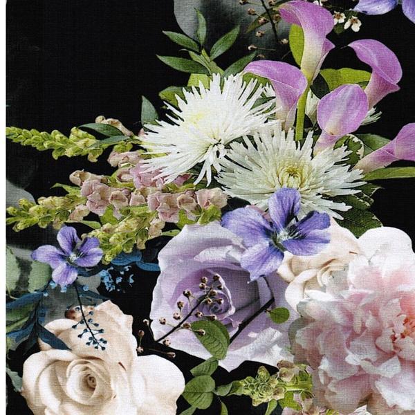 MANDY Jersey Blumensträuße schwarz bunt