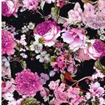 MANDY Jersey Blumen navy pink
