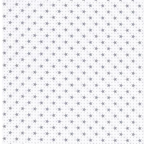 GUNNAR Webware Seesterne weiß grau
