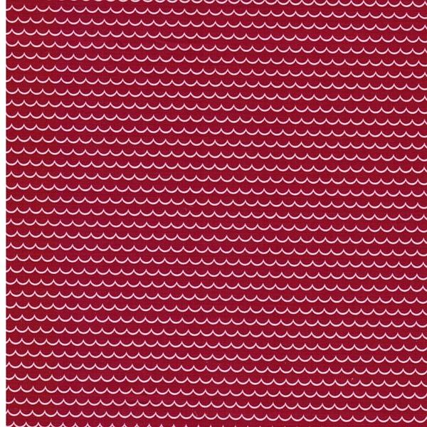 GUNNAR Webware Wellen rot weiß