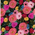 ENGLISH GARDEN Rayon Blumen bunt