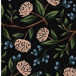 WILDWOOD PEONIES Canvas Pfingstrose blue