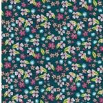 JUNGLEMANIA Webware Blumen smaragd bunt