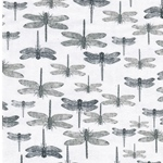 KALLE Canvas Libellen weiß grau