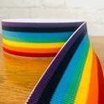 Gummiband Streifen 50 mm Regenbogen