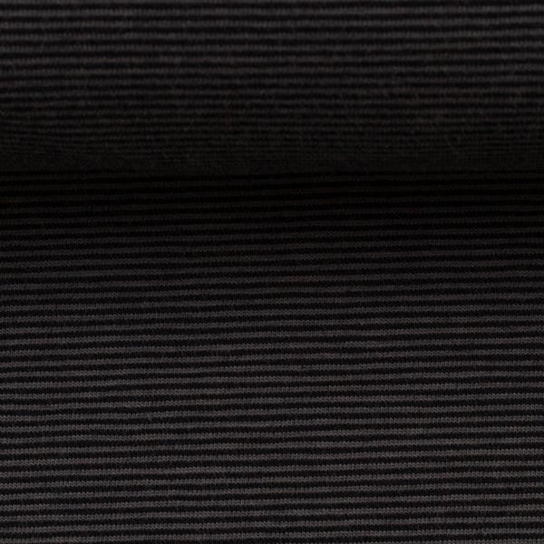 BELLA Ringeljersey schwarz grau