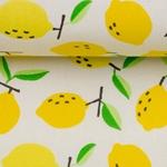 LUNA Wachstuch Zitronen gelb