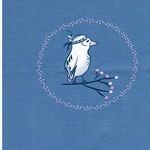 WINTER BIRD Jersey Panel 57cm