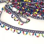 Perlenband Webband bunte Anhänger
