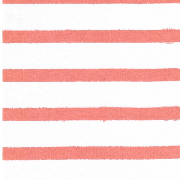 STRIPES Organic Jersey living coral