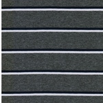CADAC Jersey Streifen grau mel. blau wei
