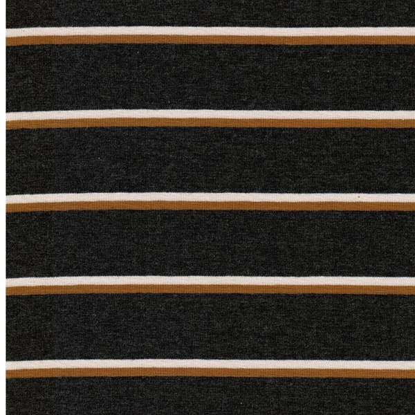 CADAC Jersey Streifen grau mel. ocker cr