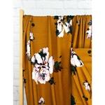 IVO Viskosejersey Blumen caramellgold