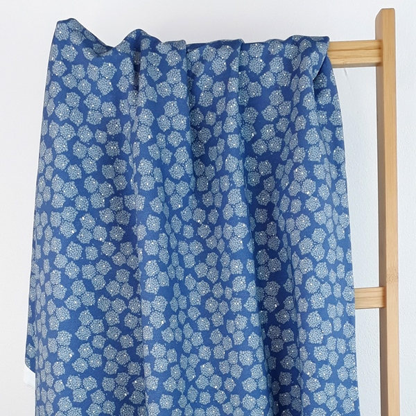 BLOSSOM by Lila Lotta French Terry blau