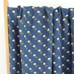 LANDSHUT French Terry Blumen blau