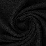 gekochte Wolle Wollwalk schwarz