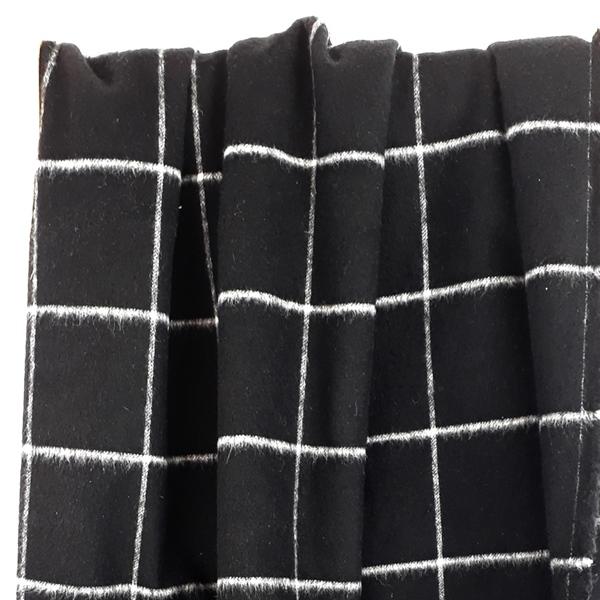 DAMIANO Woll-Karo schwarz weiß