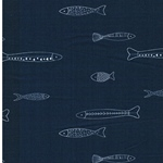 CATCH & RELEASE Popeline Fische jeans