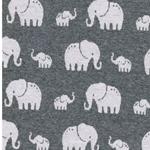 MADITA Jacquard-Jersey Elefanten grau