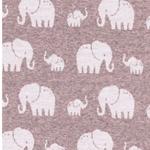 MADITA Jacquard-Jersey Elefanten rosa