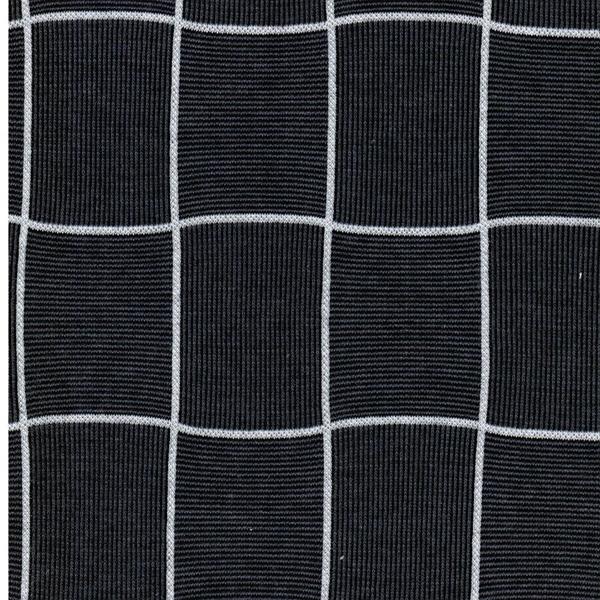 KARO Jacquard-Jersey Gitter dunkelblau