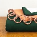 Nähpaket HUDIE grün terrak. ohne Schnitt