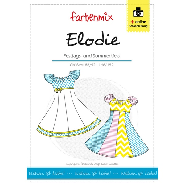 Farbenmix Schnittmuster ELODIE