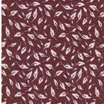 MADITA Jacquard-Jersey Blätter burgundy