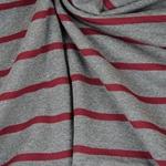 CAMPANO Jersey Streifen grau mel. bordea