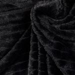 PADDY Webpelz Rippenstruktur schwarz