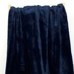 FLANELLE flauschiger Fleece dunkelblau
