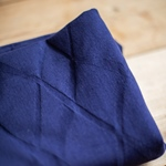 ORGANIC WAVE JACQUARD navy blue