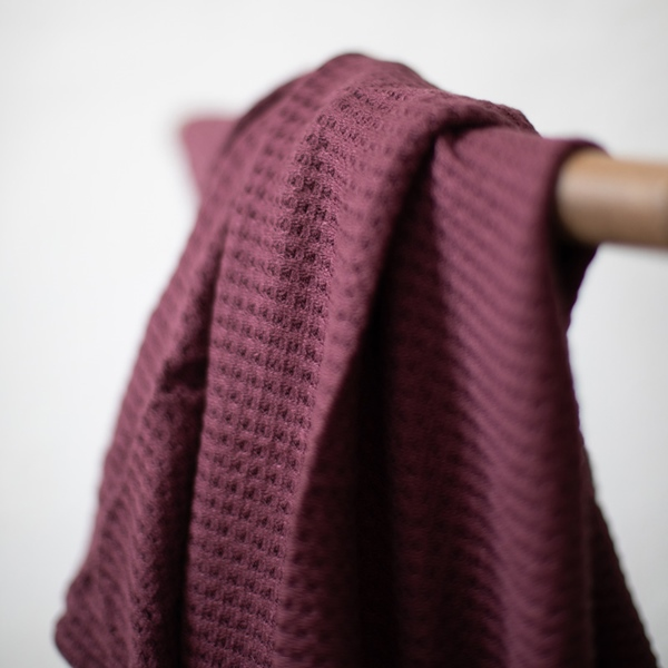VISCOSE WAFFLE KNIT grape