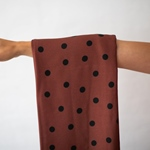 DOTS VISCOSE STRETCH rust black