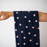DOTS VISCOSE STRETCH navy rose