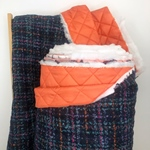 FARIA gesteppter Woll-Karo-Jackenstoff