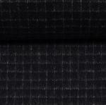 VITO Wollflanell-Tweed Gitter dunkelblau