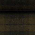 EROS Wollflanell-Tweed Karo grün schwarz
