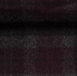 EROS Wollflanell-Tweed Karo bordeaux sch