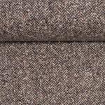 CAMILLA Tweed Fischgrat beige schwarz