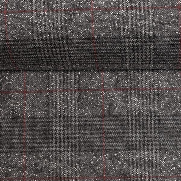 ANTONIO Tweed Wollkaro grau
