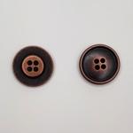 Metallknopf 23 mm 4-Loch altkupfer