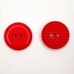 2-Loch-Knopf 15 mm Punktemuster rot