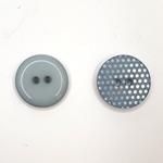 2-Loch-Knopf 15 mm Punktemuster graublau