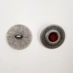 Metallknopf mit Öse 23 mm Punkt rot