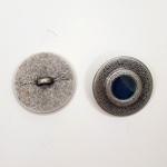 Metallknopf mit Öse 23 mm Punkt blau