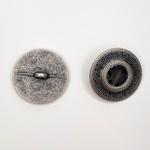 Metallknopf mit Öse 23 mm Punkt lila