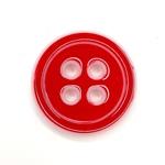 Polyesterknopf 20 mm 4-Loch rot weiß