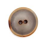 Steinnussknopf 25 mm 2-Loch vintage grau