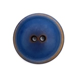 Steinnussknopf 25 mm 2-Loch vintage blau